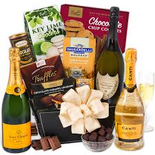 this gourmet experience includes chagne truffles gift basket