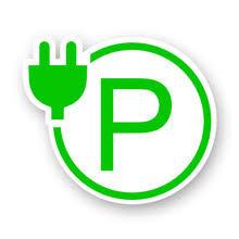 Зеленая <b>парковочная станция</b>, символ электрической машины ...