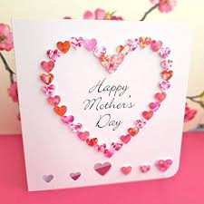 Handmade Happy Mothers Day Card Pink 3d Hand Made Love Heart