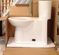 American Standard Cadet 3 Decor Our Concealed Trapway Skirted One Piece Toilet So Happy With Ameri