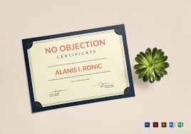 no objection certificate for employee employee no objection certificate design template in psd word