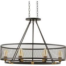 6 light chandelier shades crystal for portfolio bronze fairview