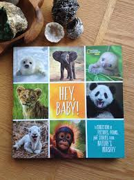 two things our kids love are nature and reading so hey baby a collection of pictures poems and stories from nature s nursery has quickly bee a