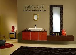 Decor For Bathrooms amazon bathroom ruleswalldecal23wide x 87highblack or 7065 by uwakikaiketsu.us