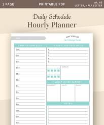 Planner 2020 Template Daily Planner 2019 2020 Daily Planner Printable Template With Top Daily Priorities Daily Schedule Hourly Planner Agenda Template Pdf