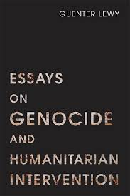 essays on genocide and humanitarian intervention u of u press book cover