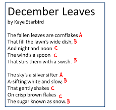 Rhyming Patterns In Poems