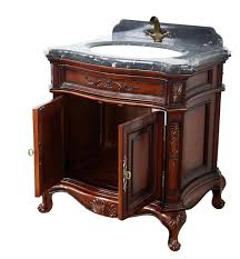 Stunning Antique Style Bathroom Cabinets Using Staining Mahogany