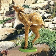 garden statues animals hippo garden statue baby deer statue garden animal statues figurines outdoor animals decor