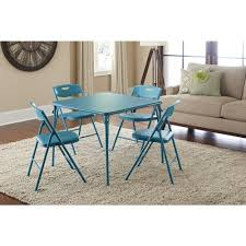 Game Table And Chairs Set Cosco 5 Piece Folding Table And Chair Set In Beige Mist 14551whd
