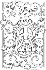 Peace Sign Coloring Pages - coloringsuite.com