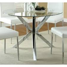 coaster company chrome glass top dining table room set round