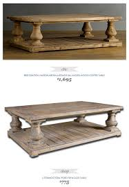 #CopyCatChicFind #RestorationHardware Balustrade Salvaged Wood Coffee Table  $1695 - vs - #Uttermost Stratford