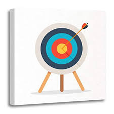 target canvas prints. Perfect Canvas Emvency Canvas Prints Square 16x16 Inches Archery Target Arrow Standing On  Tripod Goal Achieve White Bullseye With O