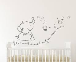 we made a wish baby elephant wall decal sticker baby elephant wall decal baby