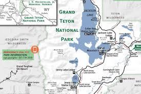 grand teton  yellowstone national park map  jackson hole traveler