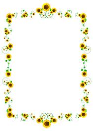 向日葵フレームのイラスト向日葵フレーム8月季節素材のプチッチ