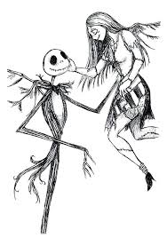 Jack Skellington Coloring Page As Well As Related Post For Make Cool