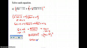 solving radical equations with radicals on both sides