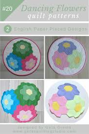 Paper Piecing Flower Hexagon Flower Quilt Pattern