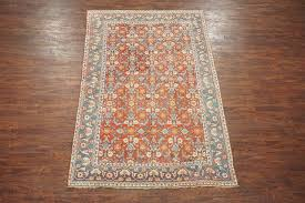 6x9 antique indian agra area rug 1920 s hand knotted cotton carpet 5 7 x 8 9