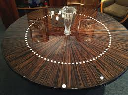 handmade custom round french modernist dining or entry hall table by