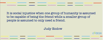 autistics can be friends by judy endow image description beige rectangle multicolored parallel lines on top and bottom dark blue