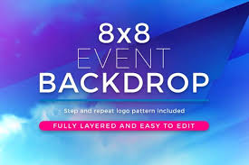 Abstract 8x8 Event Backdrop Template By Seraphimchris On Creative