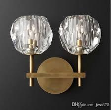american post modern rh loft led g4 chandelier living room copper led chandelier lighting foyer crystal lampshades suspend lamp glass ceiling lights hanging