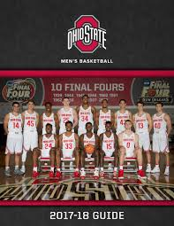 Click here for printable roster. 2017 18 Ohio State Basketball Team Guide By Ohiostathletics Issuu