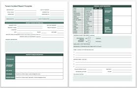 Work Incident Report Form Template Accident For Workplace
