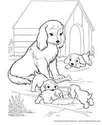 dogs and puppies coloring pages. Brilliant Pages Mother Dog Watches Her Puppies  Dog Coloring Page Inside Dogs And Puppies Pages O