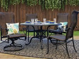 michigan 5 piece woven cast aluminum patio dining set by gensun casual living