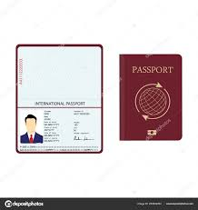 Identification Template Raster Illustration Passport Biometric Data Identification Document