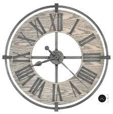 large wood veneered numeral ring 625646 wall clock