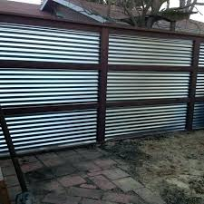 corrugated metal fence corrugated metal privacy fence sheet construction corrugated metal privacy fence cost