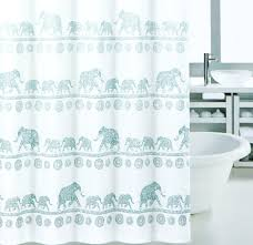 com elephant mandala shower curtain modern vintage oriental style cotton blend fabric in blue shades ombre striped aqua teal white print 72 inch by