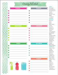 cleaning schedule printable the best free printable cleaning checklists diy ideas cleaning