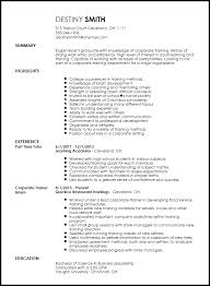 Free Entry Level Corporate Trainer Resume Template Resumenow
