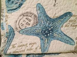 12 best Bedding images on Pinterest | Bed linen, Bed duvets and ... & COASTAL TROPICAL SEA SHELLS BEACH AQUA STARFISH SEAHORSES AQUA TWIN QUILT  SET #Nautical Adamdwight.com