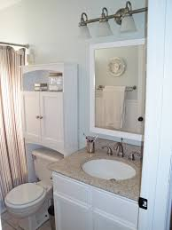 white corner bathroom cabinet Enhance The Bathroom Décor With