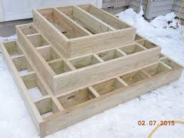 how to build outdoor wood steps designs