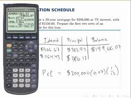 Amortize A Loan Formula Finance Example Loan Amortization Schedule Youtube