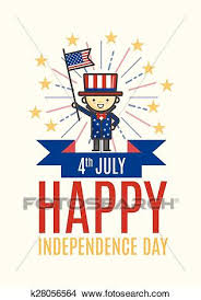 Clipart Of Fourth Of July Happy Independence Day Greeting Card