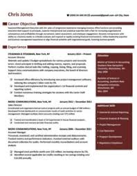 Ruby Red Independence Resume Template