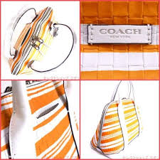 ... hot coach bleecker embossed 31004 satchel in orange . d3fc4 11b39 ...