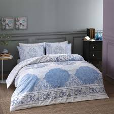 tac blue design pink full double queen 4 pieces bedding set 100 cotton fl quilt duvet cover set with duvet cover flat sheet and 2 pillowcases