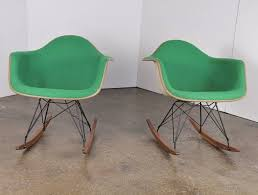 eames rocking chair green. vintage green eames upholstered rocking chair - one left 2 e
