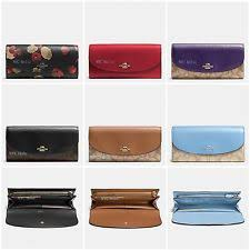 New Coach F54022 F54009 Slim Envelope Wallet With Gift Box