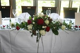 Stylish Top Table Wedding Flowers Wedding Flowers Wedding Top Table Flowers